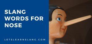 slang words for nose
