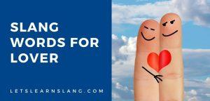 slang words for lover