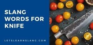 slang words for knife