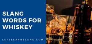 slang words for whiskey