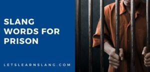 slang words for prison