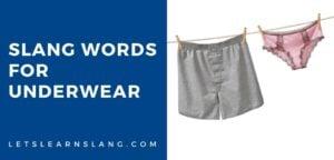 slang words for underwear