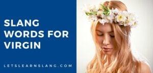 slang words for virgin